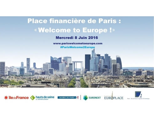 "Visuel Place financière de Paris : ""welcome to Europe!"""